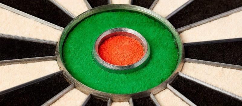 Winmau Blade 5 dartbord close up