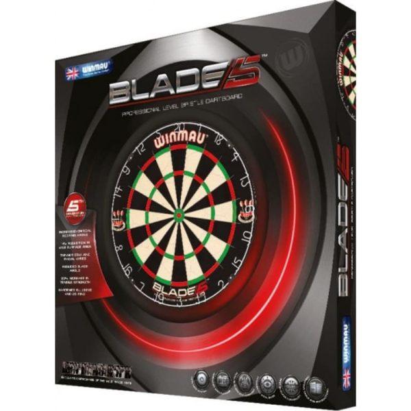 Winmau Blade 5 dartbord verpakking