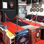 Podium in showroom Shopdarts